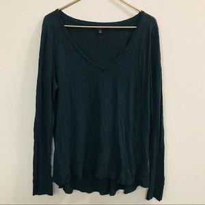 Banana Republic Dark Turquoise V-neck Shirt